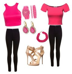 """""""Perfectly Pink Twins"""" by qveenoftrvp on Polyvore"""