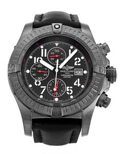 Pre-owned Limited Edition Breitling Super Avenger Gents Automatic watch. mm Steel - Black PVD case, with Black Arabic dial. Breitling Bentley, Limited Edition Watches, Automatic Watch, Cool Watches, Avengers, Steel, Swag, Cool Clocks, The Avengers
