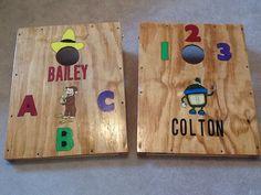Kid size cornhole boards