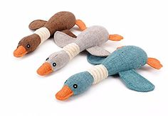 Original Sophie The Duck Natural Fetching Retrieving Squeaky Pet Toy