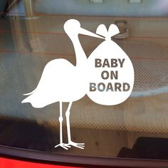 Baby on Board Decal, Car Decal, Family Decal, Baby, Baby Shower Gift, Baby Girl, Baby Boy, Car Sticker, Vinyl Decal, Laptop, Window Sticker by DesignsByTenisha