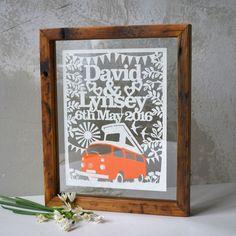 Personalised Boho Wedding Papercut