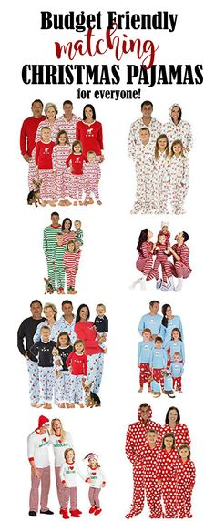 Budget Friendly Matching Christmas Pajamas For Kids, Family and Pets! Matching Christmas Jammies For Families. Christmas PJ's That Match! Cute Christmas Pajamas For Large Groups. Best Family Christmas Pajamas, Matching Christmas Pjs, Family Pjs, Matching Family Pajamas, Family Outfits, Christmas Pjs For Kids, Family Pajama Sets, Holiday Outfits, Pajamas For Teens