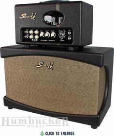 Swart Space Tone Stereo head & cab. Two amps running in parallel into a 2x12 enclosure.
