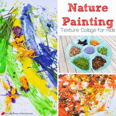 Nature Painting Texture Collage for Kids | A Little Pinch of Perfect