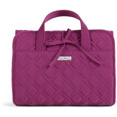 Vera Bradley Hanging Travel Organizer in Plum ($45) ❤ liked on Polyvore featuring accessories, cosmetic cases and plum