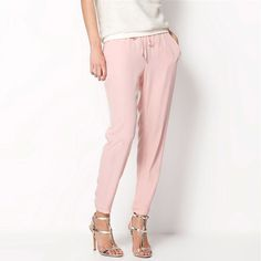 Casual Summer Choose from 7 different Colors ! Sizes Available: S, M, L, XL Women Chiffon Pants Summer Slim Style - CoolTrendyStuff