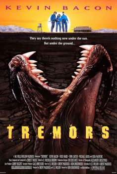 Tremors (1990) Gale Anne Hurd, Fred Ward, Kevin Bacon, Reba Mcentire, Birthday Places, Edible Cake Toppers, King Kong, Mexico, Movie Posters