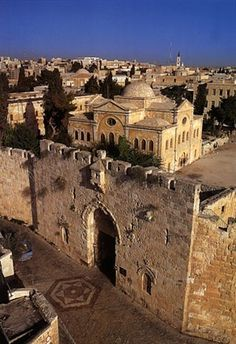 "Bab El Sahyoon باب الصهيون = Zion Gate at Armenian Convent - the Old City of Jerusalem. Pray for the peace of His people in Israel and around the world. (Hebrew: שער ציון‎, Shaar Zion, or Bab an-Nabi Dawud (""Prophet David Gate""), is one of eight gates. Oh The Places You'll Go, Places To Travel, Places To Visit, Heiliges Land, Naher Osten, Temple Mount, Israel Palestine, Masada Israel, Israel Travel"