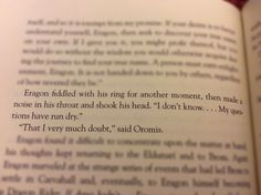 Eragon and Oromis Eragon Quotes, Movie Quotes, Book Quotes, Eragon Saphira, Good Books, Books To Read, Finding Meaning In Life, Inheritance Cycle, Christopher Paolini
