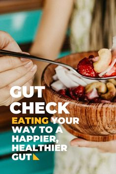 """You may have heard the saying that """"your gut is your second brain,"""" and there's good reason behind that. The bacteria in your gut are key for lifelong health, which is why you want to promote healthy bacteria through diet and lifestyle. Your gut bacteria support weight and metabolism, promote optimal brain functioning, create vitamins that regulate your immune system, and more! Let's dive in to the building blocks of good gut health. Gut Bacteria, What You Eat, Gut Health, Immune System, Metabolism, Healthy Lifestyle, Brain, Vitamins, Healthy Eating"""