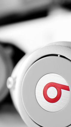 White Beats Headphones #iPhone #7 #wallpaper