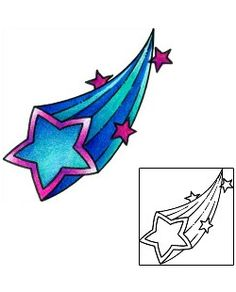 Shooting Star Tattoos Created by Andrea Ale Shooting Star Tattoo, Shooting Stars, Celestial Tattoo, Astronomy Tattoo, Tattoo Templates, Star Tattoo Designs, Drawing Clipart, Star Tattoos, Star Art