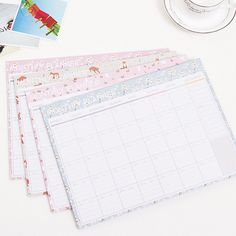 Peerless New Desk Standing Paper Calendar Multifunction Schedule Planner Notebook Kawaii Cartoon Animal Calendar Wide Selection; Calendar Office & School Supplies