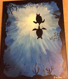 Sea Turtle Love by PaintingsbyTeri on Etsy