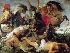 The Hippopotamus and Crocodile Hunt, Peter Paul Rubens.
