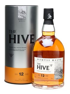 Wemyss The Hive 12 Year Old : Buy Online - The Whisky Exchange - A 12 year old blended malt whisky from independent bottler Wemyss, built around Speyside whisky matured in both fresh and refill sherry casks for a rich, sweet and spicy dram with the emphasis on h...