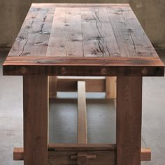Iron Furniture, Harvest Tables, Dining Table, Wood, Kitchen Ideas, House, Wedding Ideas, Google Search, Design