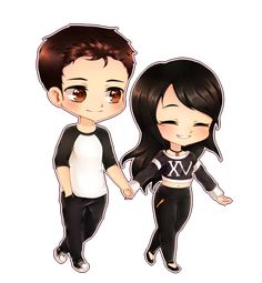 Apr 2020 - {Commission} Chibi Couple by Leniuu on DeviantArt Cute Chibi Couple, Love Cartoon Couple, Cute Couple Art, Cute Love Cartoons, Anime Love Couple, Cute Anime Couples, Cute Love Pictures, Cute Cartoon Pictures, Cute Love Gif