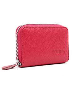 Buy Women's RFID Blocking Genuine Leather Credit Card Holder - Rose Red - and More Fashion Bags at Affordable Prices. Best Handbags, Purses And Handbags, Nice Handbags, Rfid Wallet, Clutch Wallet, Branded Wallets, Women's Wallets, Credit Card Wallet, Zipper Bags