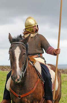 Roman  Auxiliary Cavalry. Koblenz helmet and hasta