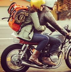 Take a road trip on a motorcycle