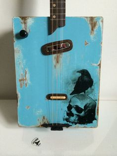 Electric cigar box guitar by OldCrowCustoms on Etsy