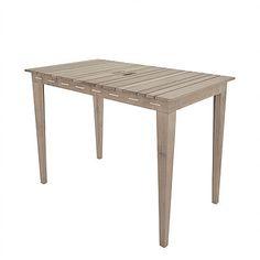 Cinas Dry under Havebord i teak - Smart udendørs havebord i massiv ...