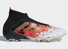 These Adidas Predator firm ground boots pull inspiration from the Telstar a ball worthy of the world's greatest football tournament. Best Soccer Shoes, Best Soccer Cleats, Womens Soccer Cleats, Nike Cleats, Mens Football Boots, Football Shoes, Football Cleats, Adidas Soccer Boots, Nike Soccer