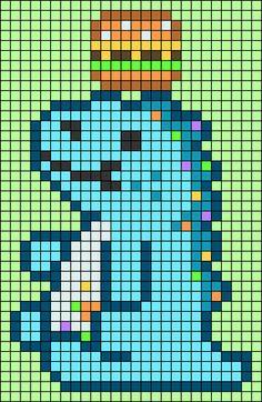 Pixel Art Templates, Perler Bead Templates, Diy Perler Beads, Perler Bead Art, Melty Bead Patterns, Perler Patterns, Beginner Cross Stitch Patterns Free, Pearl Beads Pattern, Pixel Art Grid