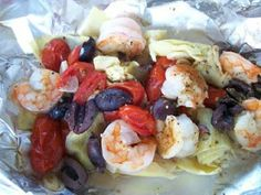 The World According to Eggface: Shelly's Greek Shrimp Packets #healthy #recipes #Greek