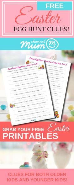 With #Easter fast approaching, we've taken the stress out of the #egghunt prep by creating 23 child-friendly, easy to follow clues for you to use at home, because who really has time to write riddles?