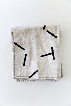 """Linen Napkins """"Sticks"""""""