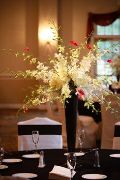 Our centerpieces. I got this idea from a website, and we added in the cranes to personalize it. #wedding #centerpiece