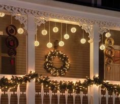 Porch holiday lights - from Available ideas - Click for more