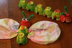 Butterfly/Caterpillar inspired by Eric Carle.