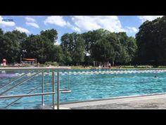 Das Münchner Schyrenbad im Sommer 2015 - trotz Hitze immer noch reichlic...