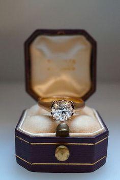 Tiffany  Co. Antique Diamond Engagement Ring Circa 1850s