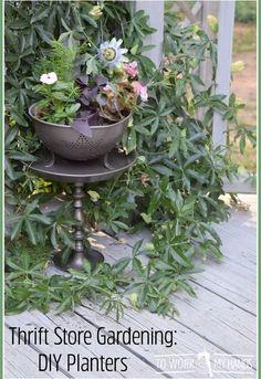 thrift store gardening diy planters