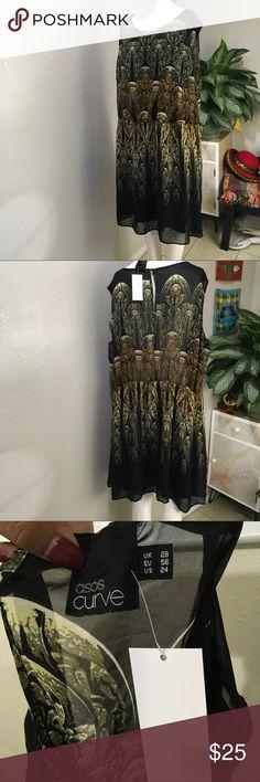 Asos Curve Plus Size Patterned Dress Plus size patterned dress ASOS Curve Dresses Midi