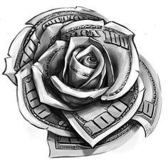 Hand Tattoos, Rose Tattoos, Body Art Tattoos, Sleeve Tattoos, Tattoo Sleeves, Gangster Tattoos, Chicano Tattoos Gangsters, Gangster Drawings, Chicano Style Tattoo
