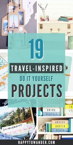 Looking for ways to incorporate your wanderlust into your daily life? This epic list features 19 gorgeous and easy DIY projects that are travel-inspired, so plenty of map crafts, suitcase crafts and more!
