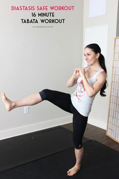 16 minute tabata diastasis recti safe workout for post partum moms