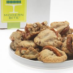 Toffee Peanut Pretzel Cookies  by Modern Bite: toffee, peanuts, pretzels and brown sugar.; would love to try so etching similar without the peanuts