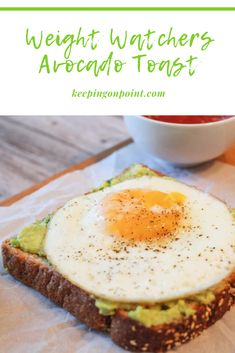 Avocado Toast – Weight Watchers - Weight Watchers Avocado Toast – I like this so much sometimes I eat it for dinner too! Weight Watchers Lunches, Weight Watchers Program, Weight Watchers Breakfast, Weight Watcher Dinners, Weight Watchers Chicken, Weight Watchers Desserts, Weight Watchers Recipes With Smartpoints, Weightwatchers Recipes, Weigth Watchers