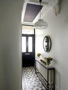 Fabulous Hallway Decor Ideas For hallway ideas ideas small ideas entrance hallway ideas hallway decorating halls Hall Tiles, Tiled Hallway, Hallway Flooring, White Hallway, Hallway Shelf, Hallway Ceiling, Upstairs Hallway, Flur Design, Hallway Inspiration