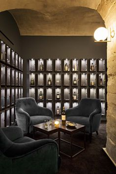 of Whiskey Bar / jbmn architectes - 2 - . - Gallery of Whiskey Bar / jbmn architectes – 2 – -Gallery of Whiskey Bar / jbmn architectes - 2 - . - Gallery of Whiskey Bar / jbmn architectes – 2 – - Lounge Design, Bar Lounge, Design Hotel, Cigar Lounge Ideas, House Bar Design, Cigar Lounge Decor, Back Bar Design, Wine Bar Design, Lounge Club