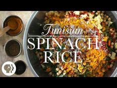 Kitchen Vignettes by Aubergine: Tunisian Spinach Rice or Riz Djerbien Gordon Ramsay, Food Network, Risotto, Tunisian Food, Tunisian Recipe, Spinach Rice, Kitchen Vignettes, Khadra, Vegetarian Recipes