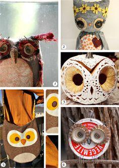 Top 5 owl crafts! Check them  out on the blog!