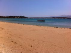 Lageri Beach on the island of Paros, Greece...A whole beach to ourselves!